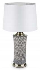 Retro klasická lampa s tienidlom na nočnom stolíku