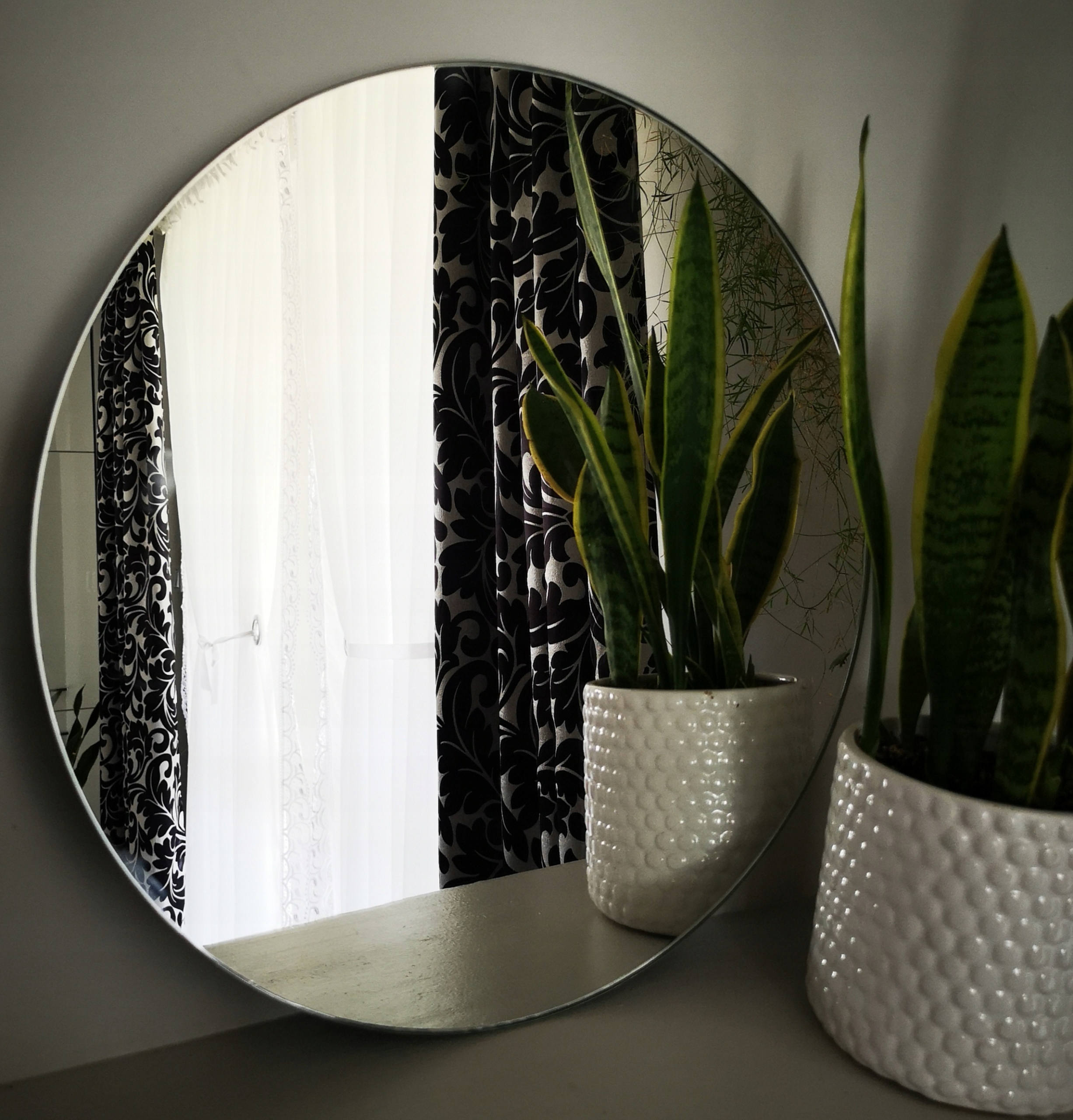 Kruhové zrkadlo, leštené, priemer 70 cm, OCHRANNÁ FÓLIA