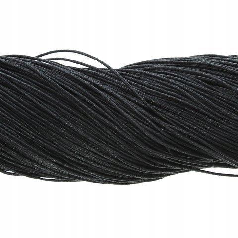 шнурок Хлопок   Черный 1мм ~80m опт