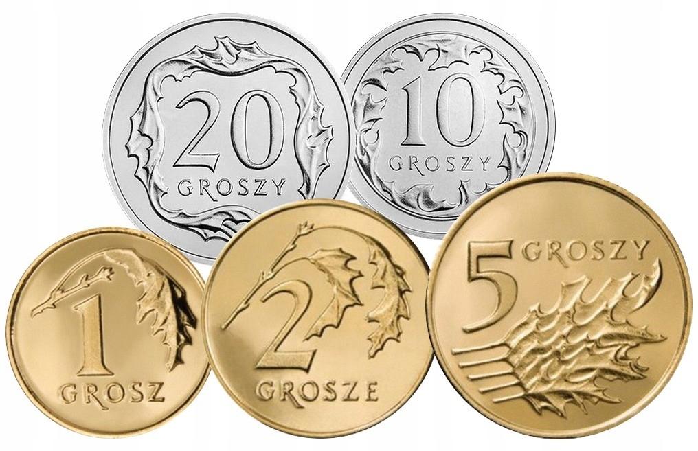 Komplet monet obiegowych 2000 r. UNC 5 sztuk