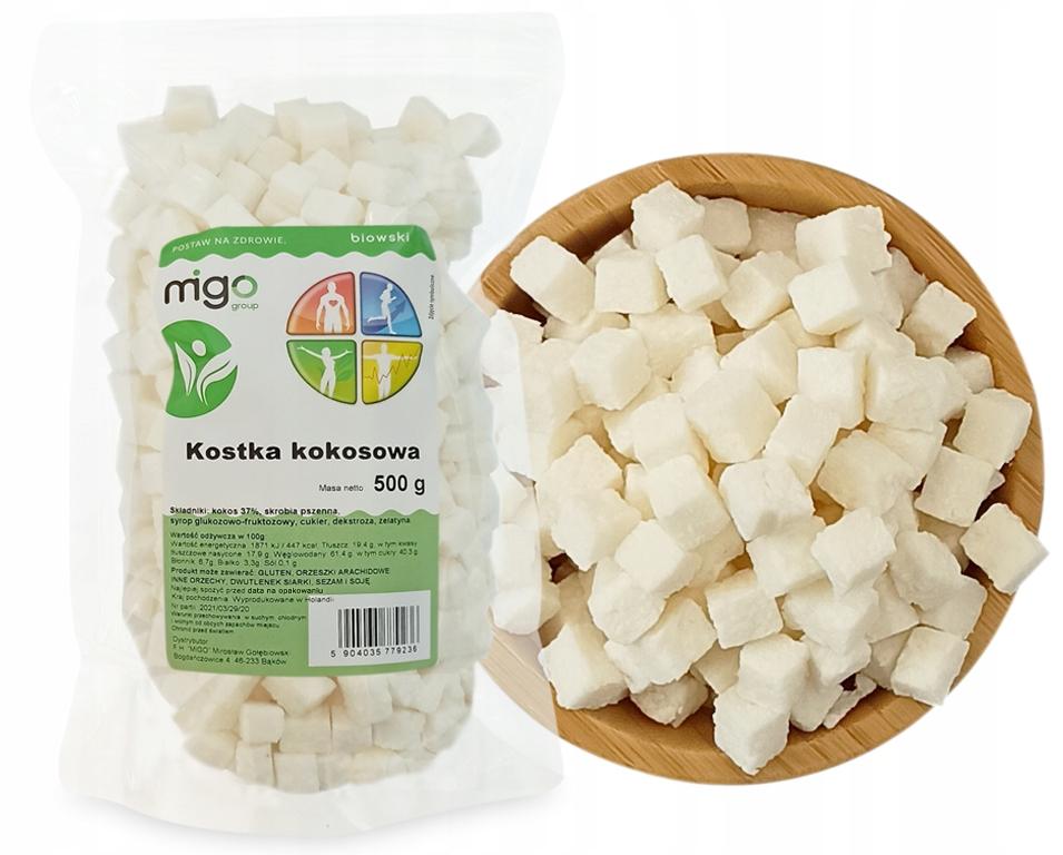 Кокосовый кубик - снек 500 г - MIGOgroup