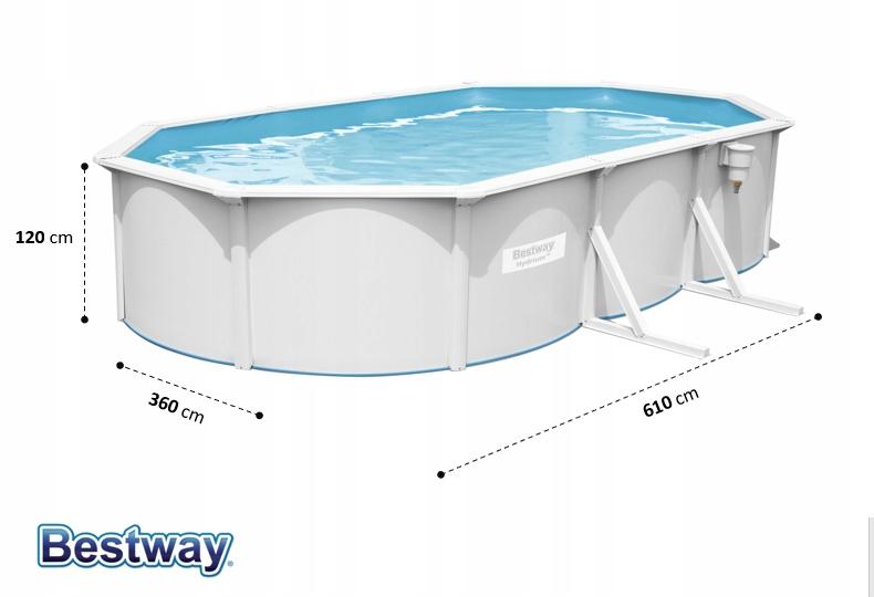 ROČNÝ Záhradný bazén 610x360 56369 Dĺžka 610 cm