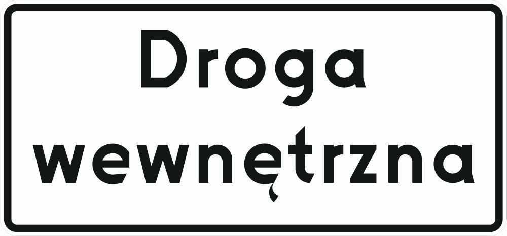 Cestná značka Vnútorná cesta D46 D-46 420x900 F1