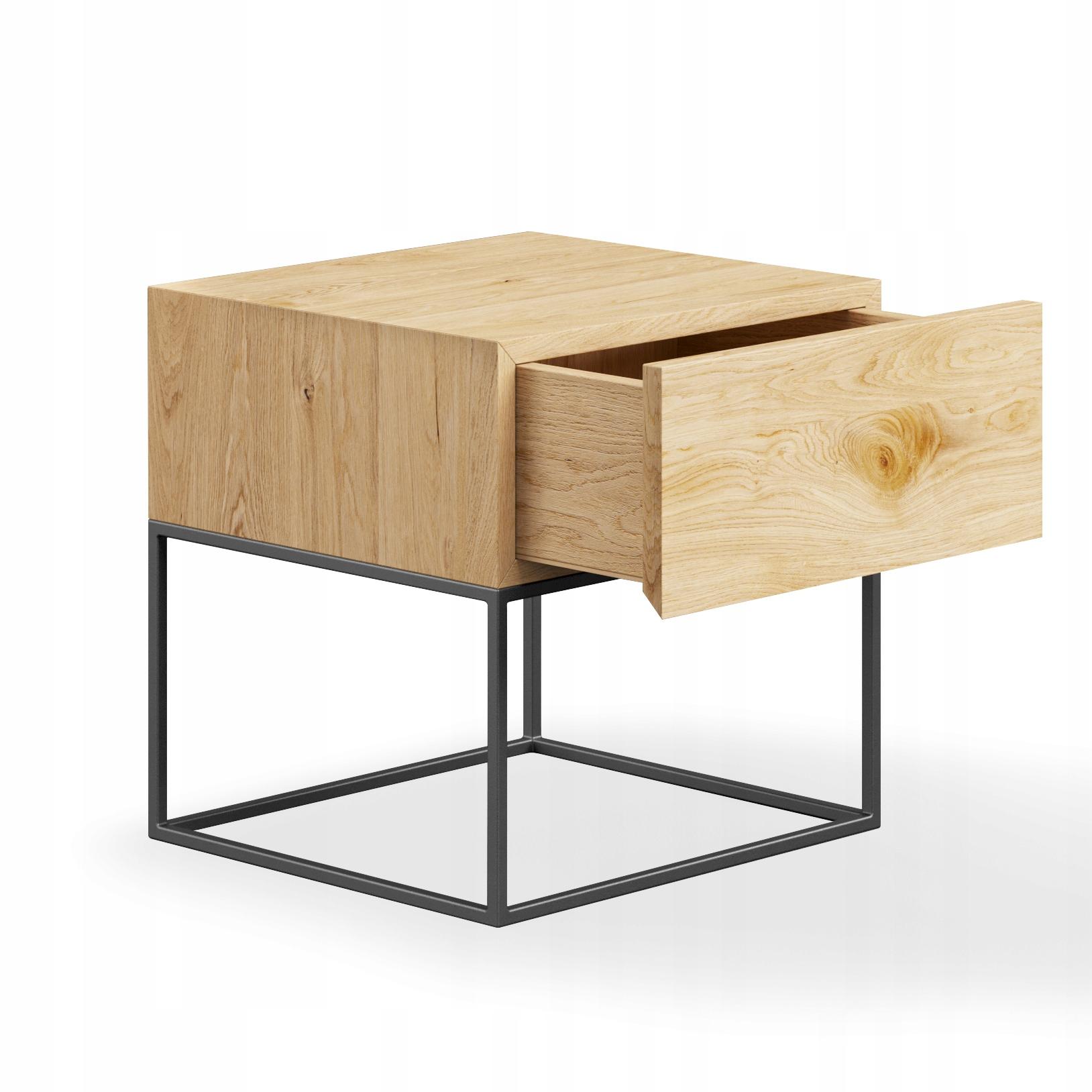 Nočný stolík LOOM so zásuvkou LOFT RETRO