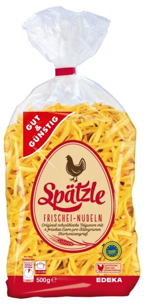 Паста G&G Spatzle с 4 яйцами 500 г DE