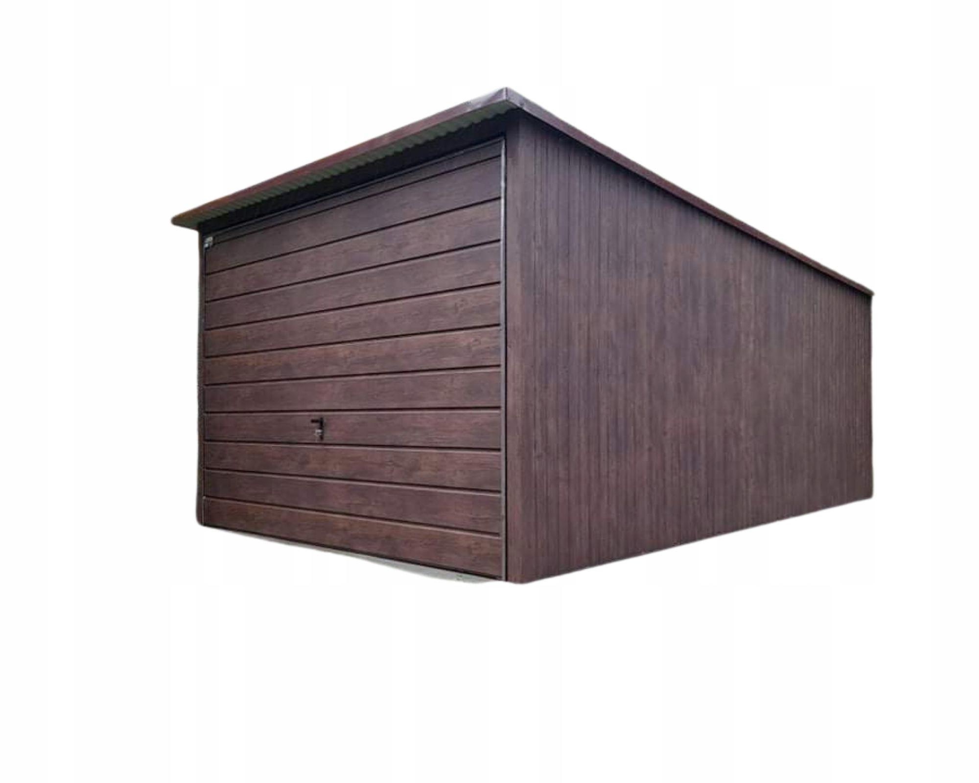 жестяные гаражи 3х5 под дерево орех