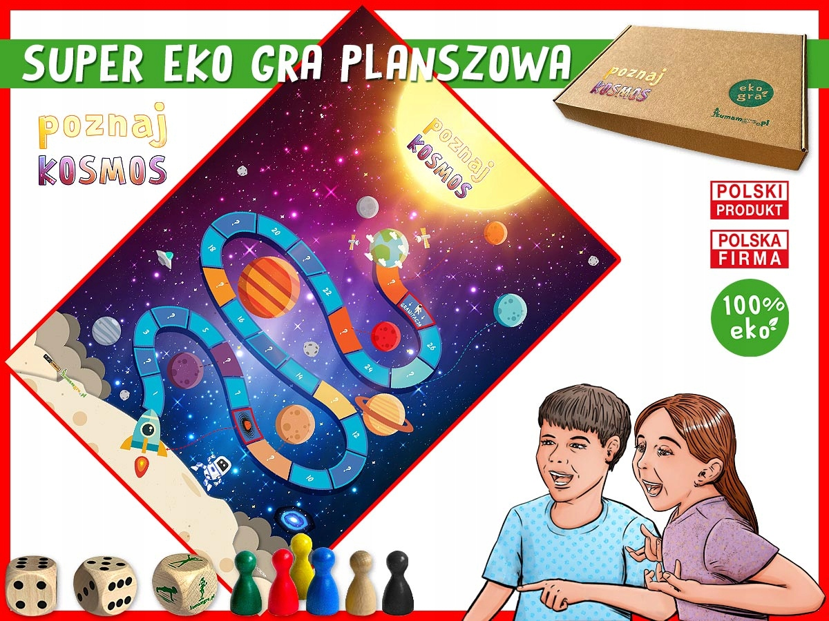 eko gra planszowa dla dzieci POZNAJ KOSMOS