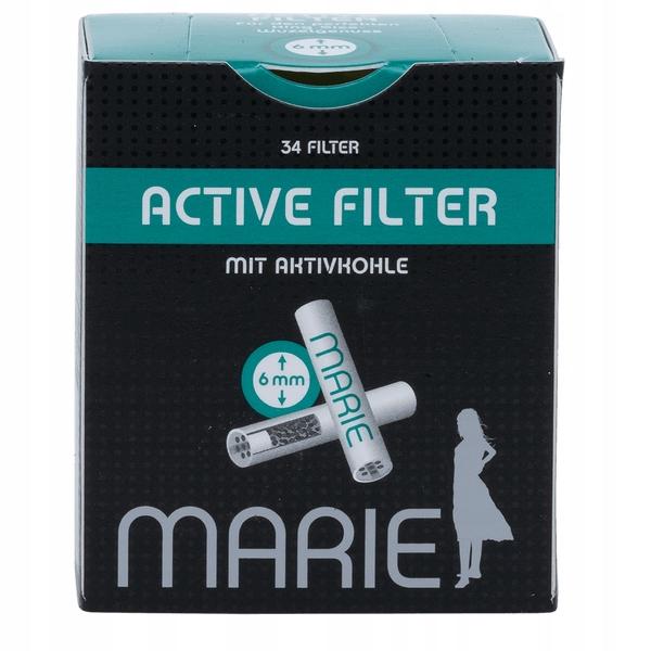 Угольные фильтры EXTRA SLIM 6 мм 34 шт Marie