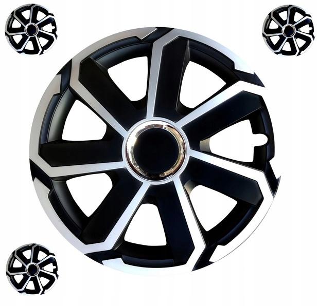 Черные и серебряные колпаки 15 VW OPEL FORD 863 SEI FORD AUD63 FORD AUD63 863 SEI FORD AUD63 GRAL SILVER / BLACK 15