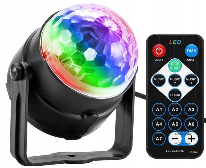 Купить PROJEKTOR DYSKOTEKOWY KULA DISCO REFLEKTOR LED RGB на Otpravka - цены и фото - доставка из Польши и стран Европы в Украину.