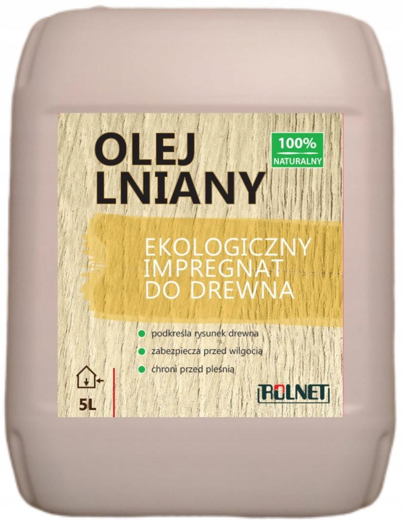 Льняное масло Пропитка для дерева БЕЗ ДОБАВОК, 5л