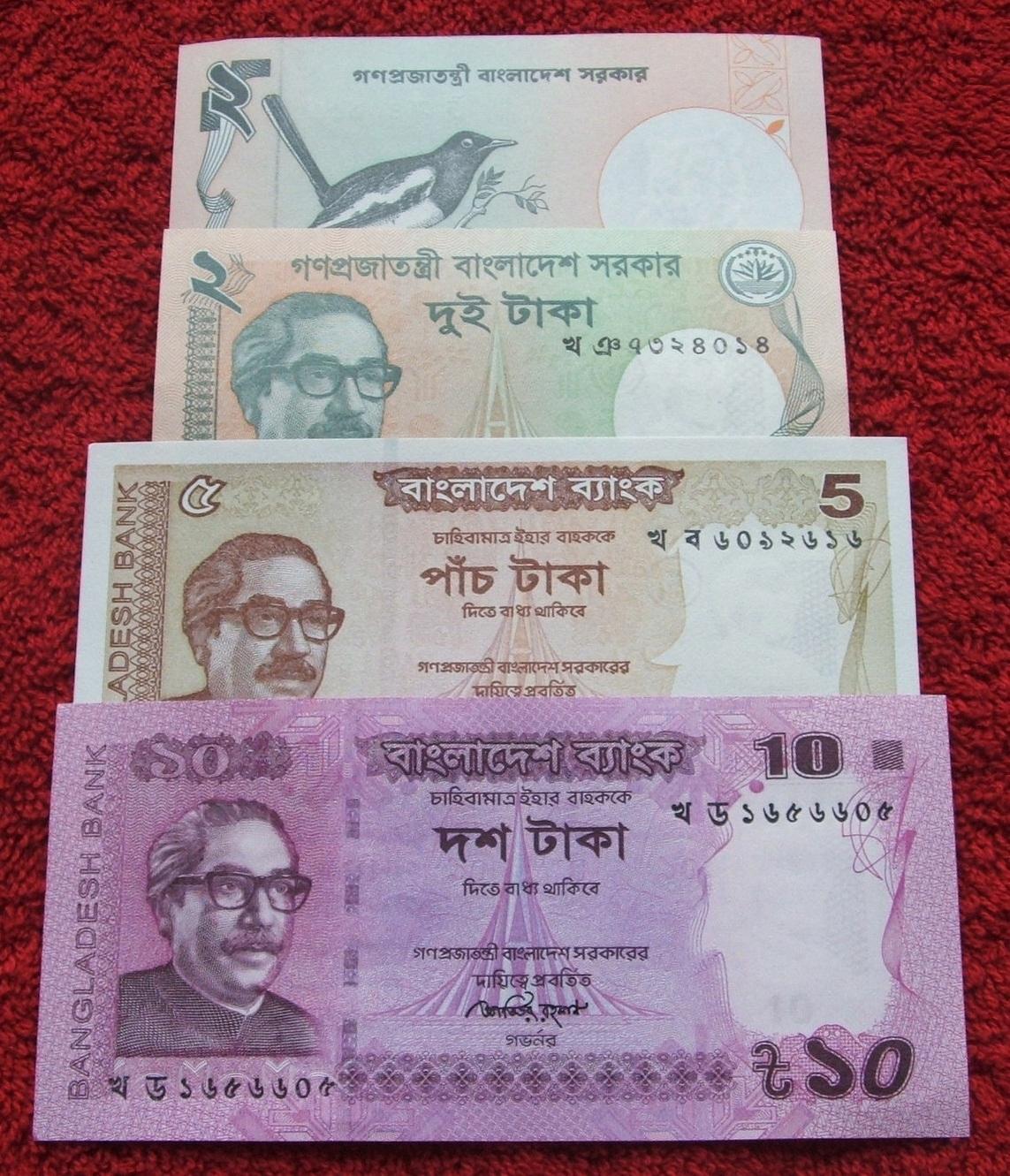 ZESTAW BANKNOTÓW BANGLADESZ !!! STAN UNC !!! SUPER