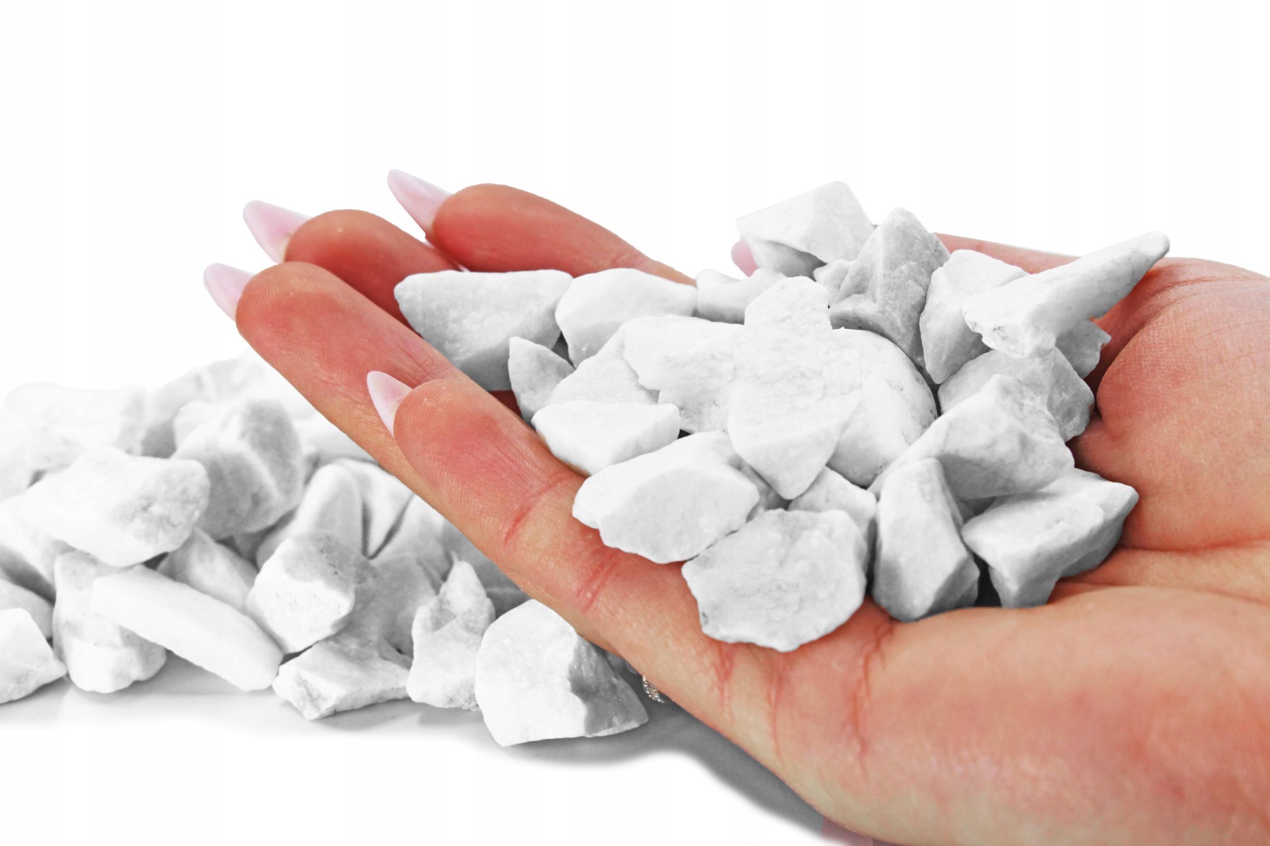 KAMIEŃ biały ziemia 20kg podłoże grys OGRÓD grecki