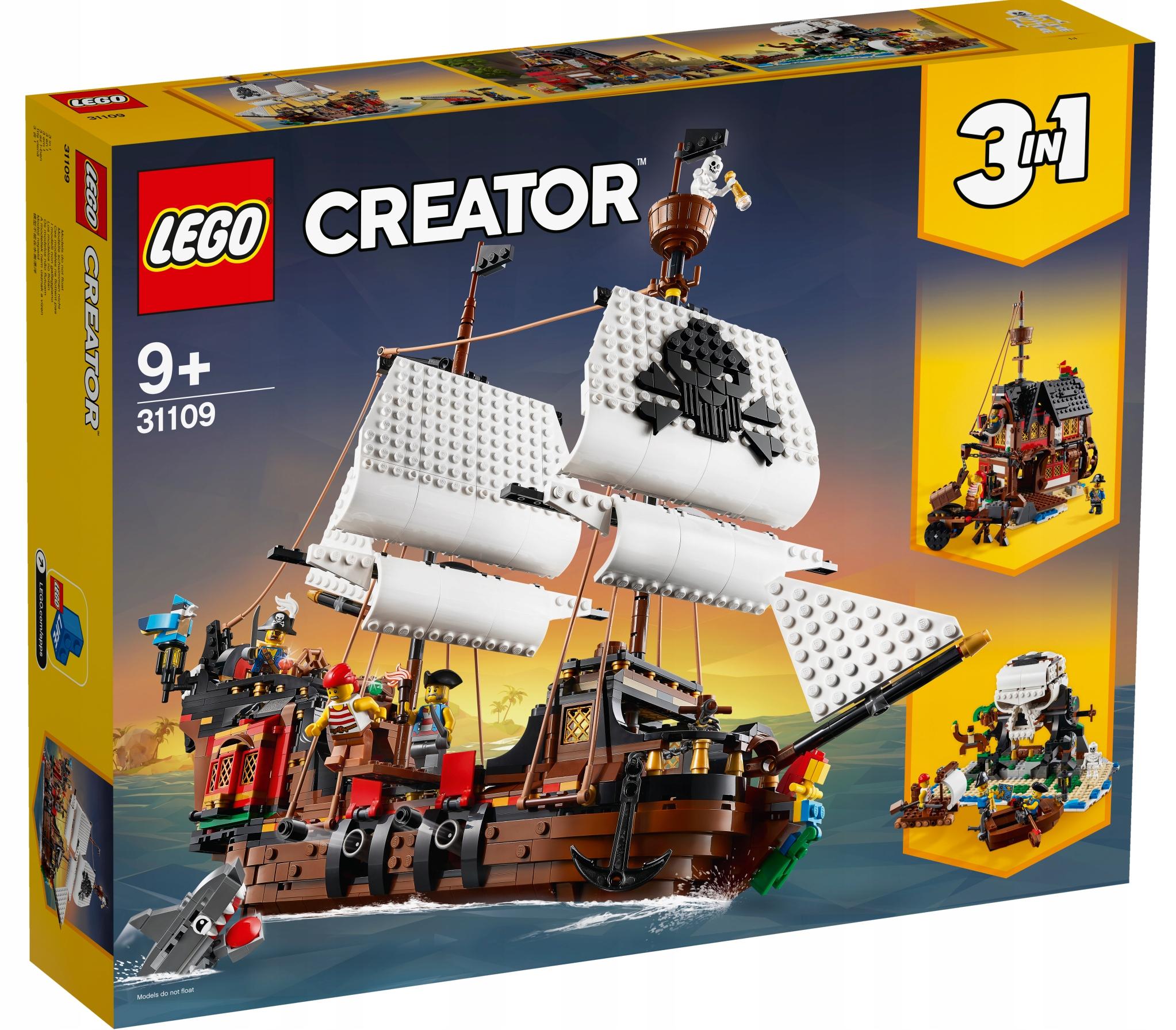 LEGO CREATOR Statek piracki 31109