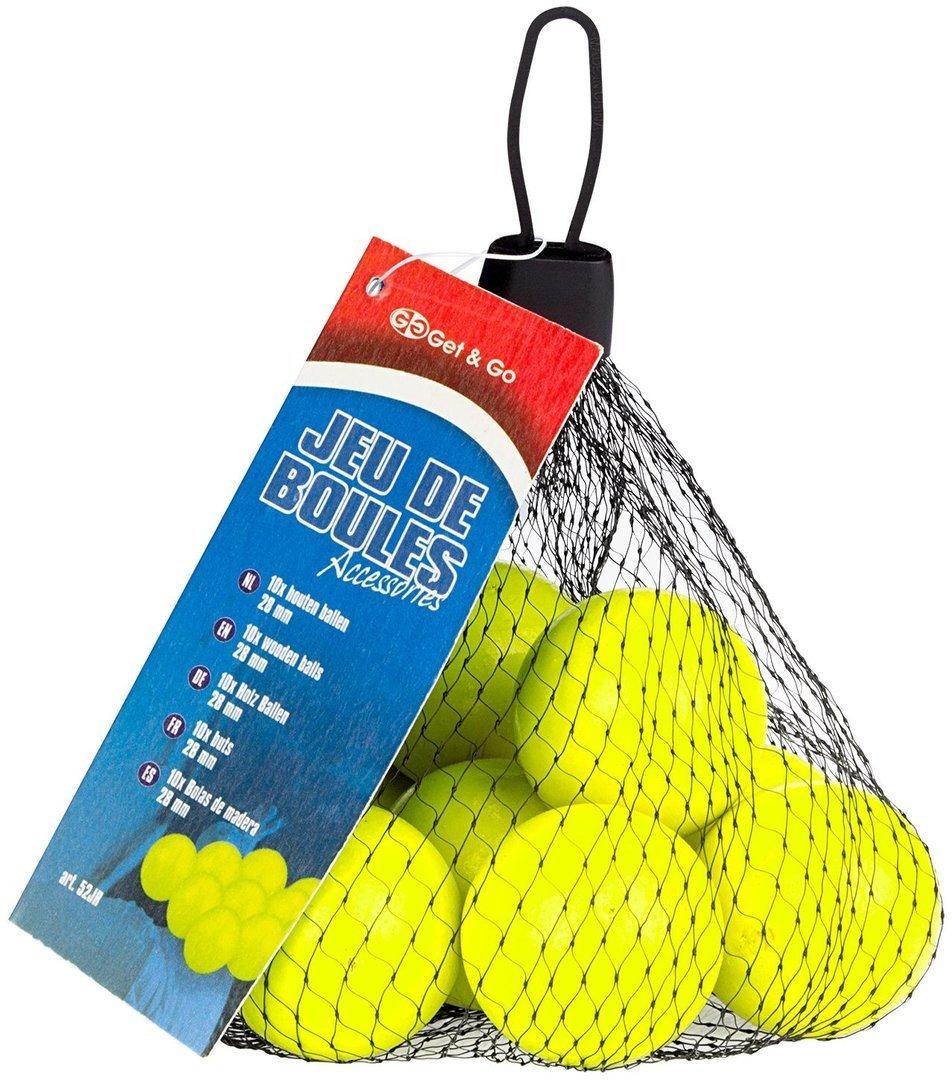 Купить Деревянные мячи для игры в петанк GET GO x10 на Otpravka - цены и фото - доставка из Польши и стран Европы в Украину.