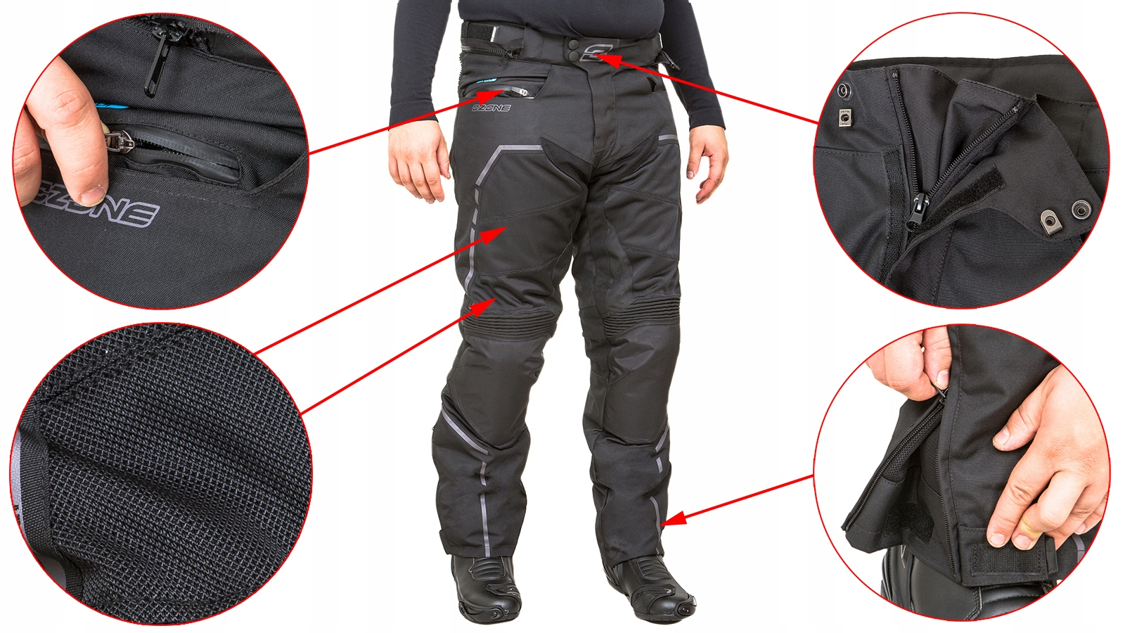 Tesktylne штаны мотоциклетные ozone jet 5xl, фото 1