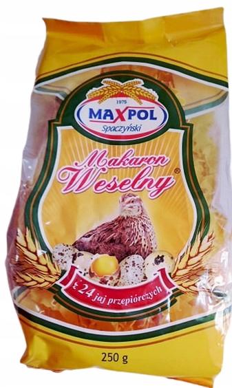 Makaron przepiórczy z 24 jaj Łazanka MAXPOL 250g