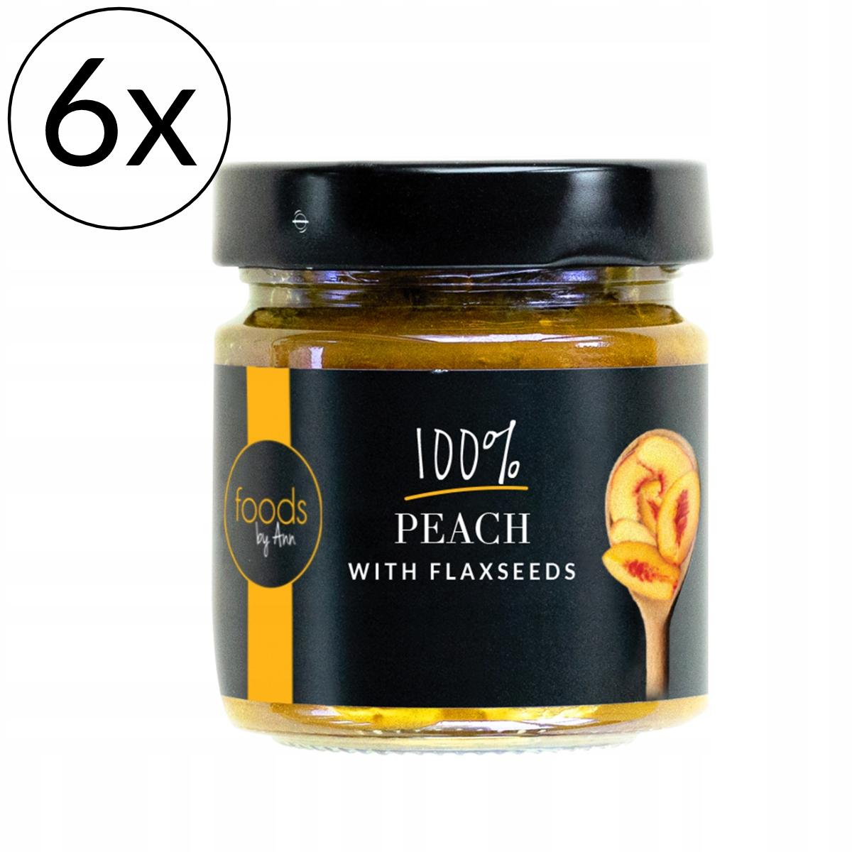 6x Варенье из 100% персикового льняного семени от Ann