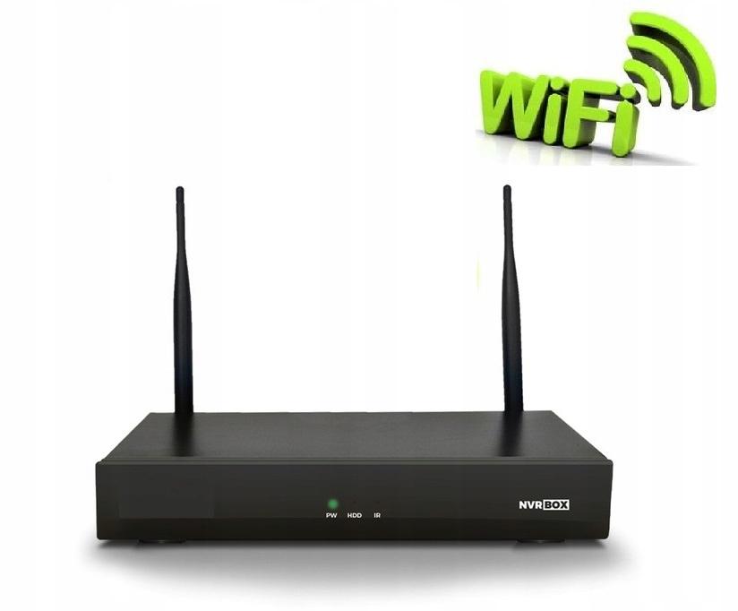 Zestaw monitoringu 4 kamery WIFI Nagrywarka p2p Marka WiFi 4 kamery