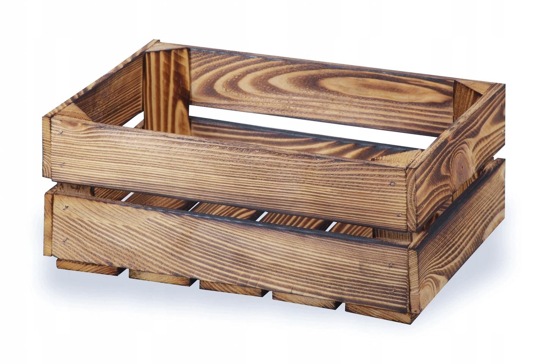 Ящики деревянные обожженные, ящик 38x28x16