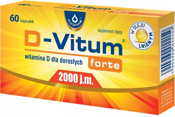 D-VITUM FORTE 2000 J.M. 60 kapsułek witamina D3