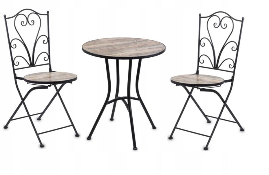 záhradný nábytok, stôl, 2 stoličky, kovanie, súprava
