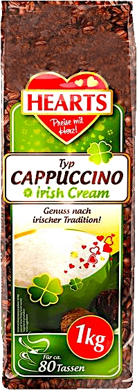 Cappuccino Irish Cream 1kg (Hearts)
