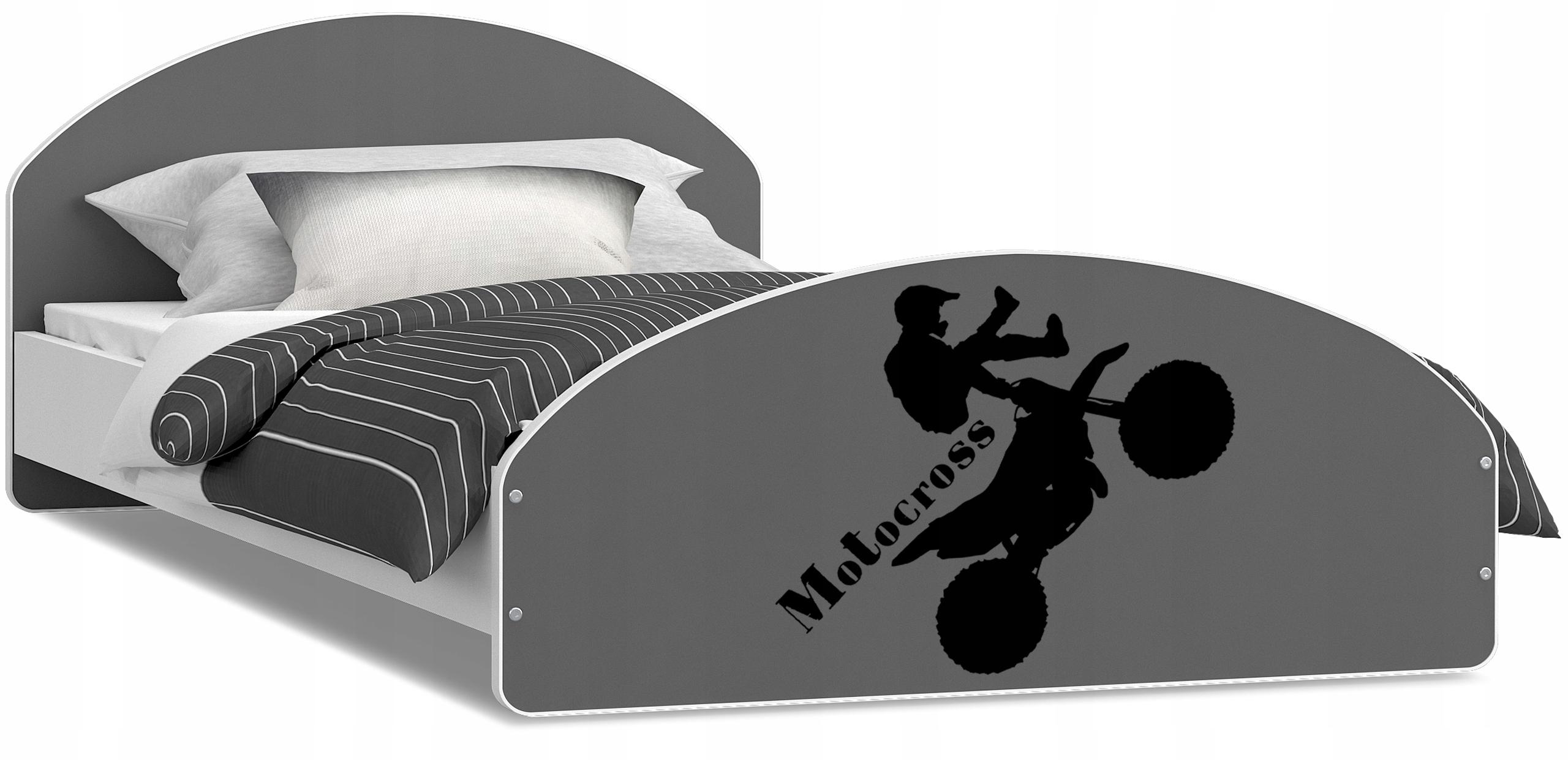 Łóżko młodzieżowe CROSS 200x90 + Materac