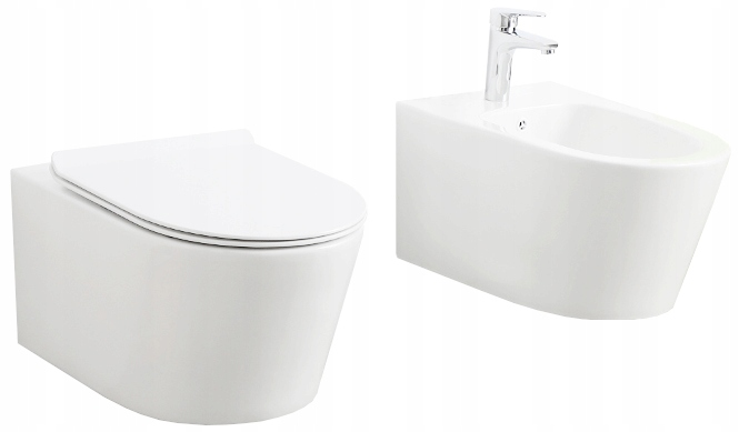 ZESTAW PODWIESZANY NOVA MUSZLA MISKA WC + BIDET