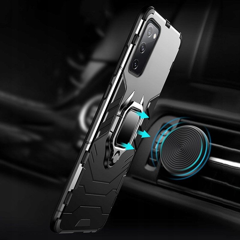 Etui do Samsung Galaxy S20 FE Pancerne Ring Szkło Przeznaczenie Samsung