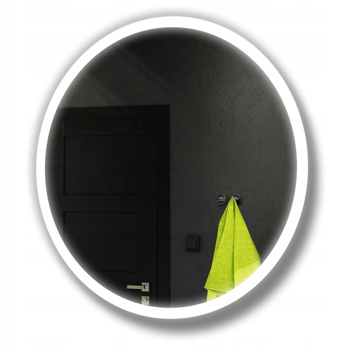Круглое зеркало для ванной со светодиодной подсветкой 100 см 76