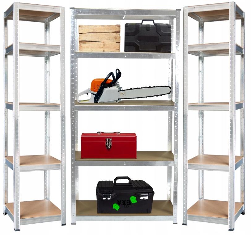 3x Regał metalowy magazynowy piwnica garaż 180cm