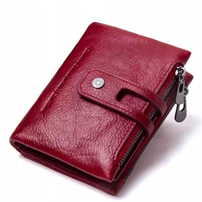 Pánska retro kožená peňaženka s dvojitým zipsom