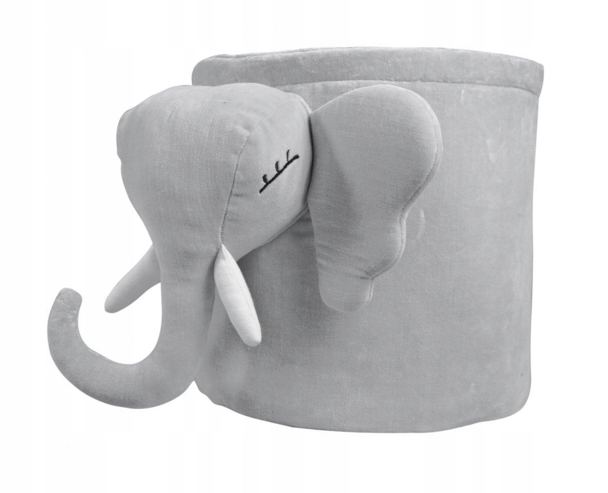 Nádoba sivá slon 30 cm Caramella