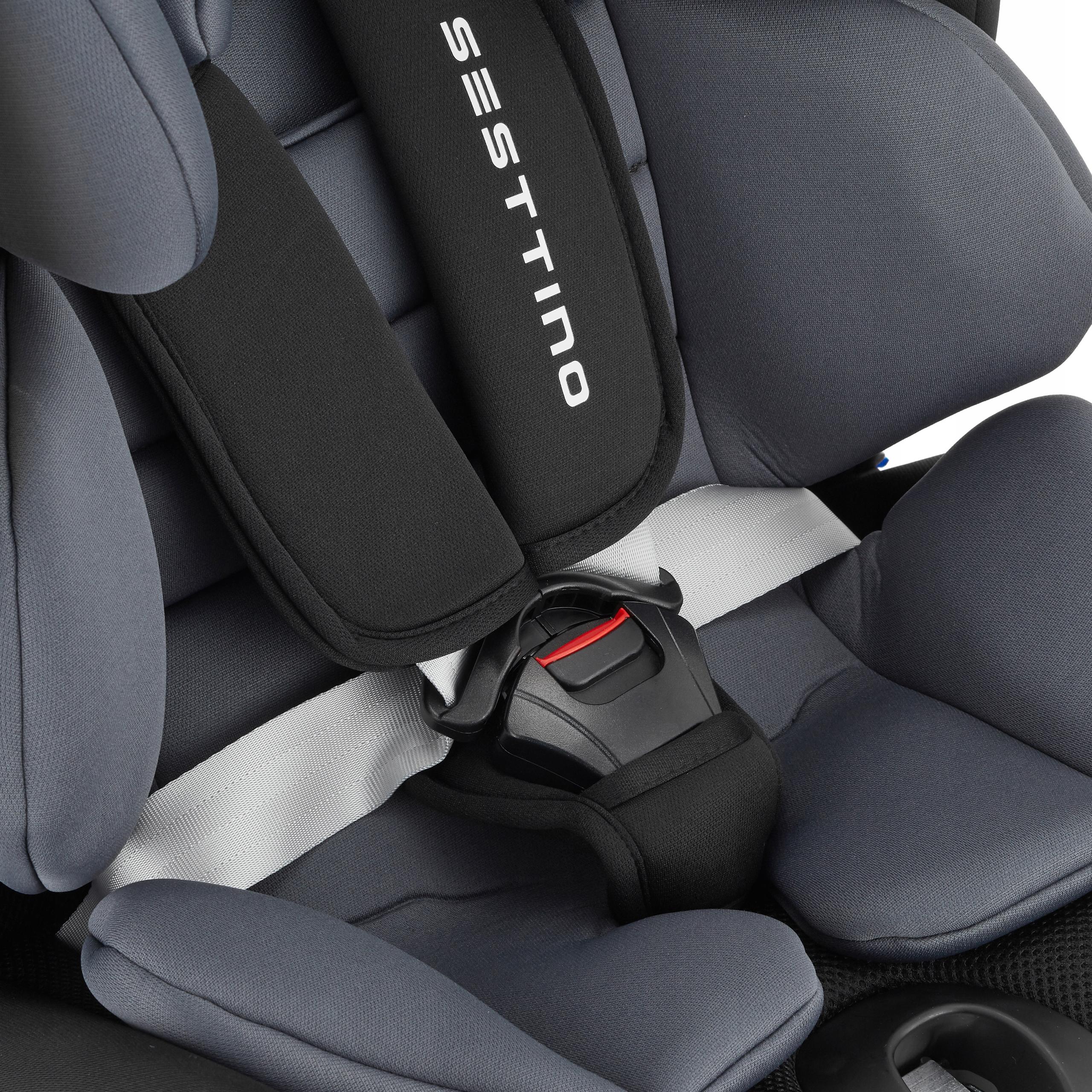 Fotelik Samochodowy Sesttino Route ISOFIX 0-36kg Kolor odcienie szarości i srebra