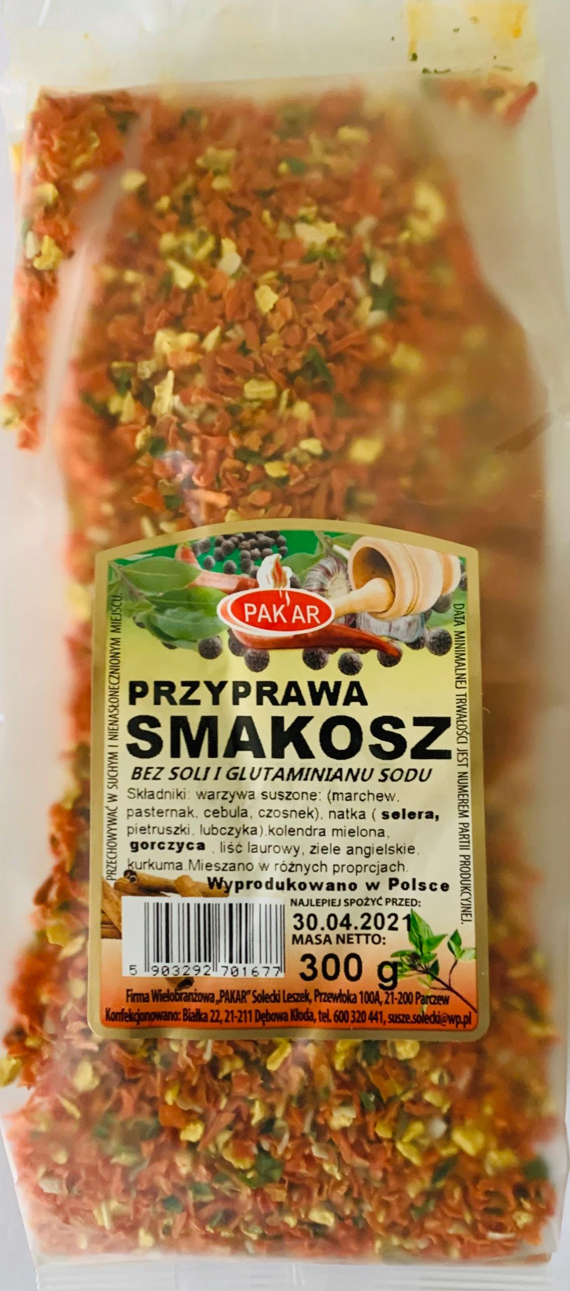 Купить Przyprawa SMAKOSZ naturalna bez soli 300g на Otpravka - цены и фото - доставка из Польши и стран Европы в Украину.