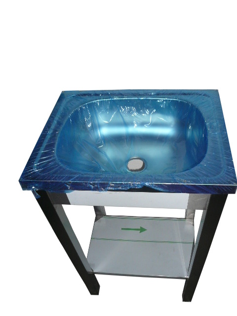 Стол из нержавеющей стали с мойкой 50х40х85 см INOX