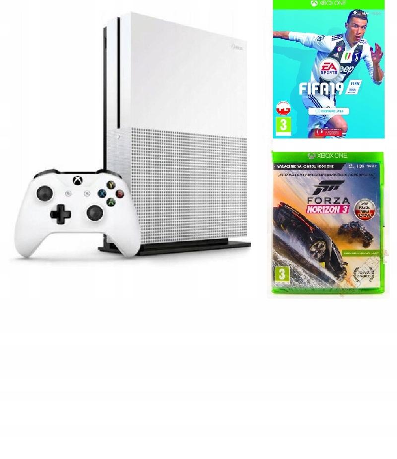 Konsola XBOX One S 500GB + Pad + 2 Gry Pudełkowe