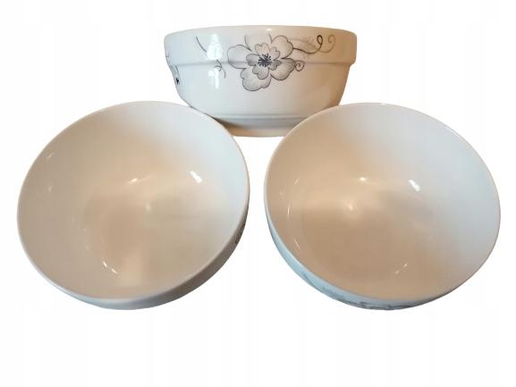 Zestaw 3 misek porcelanowych do zupy 14 cm 700 ml