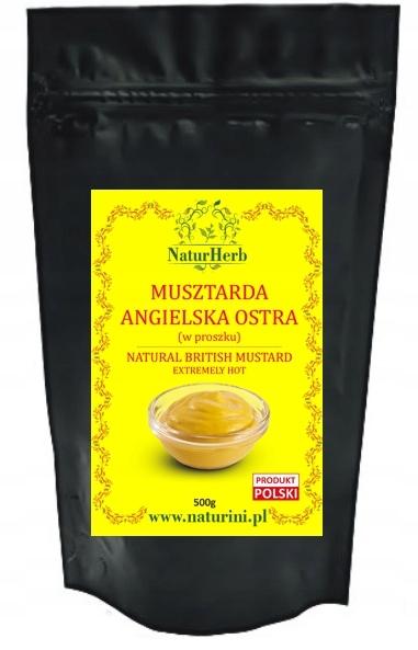 Musztarda w proszku SUPER OSTRA 500g by Naturini