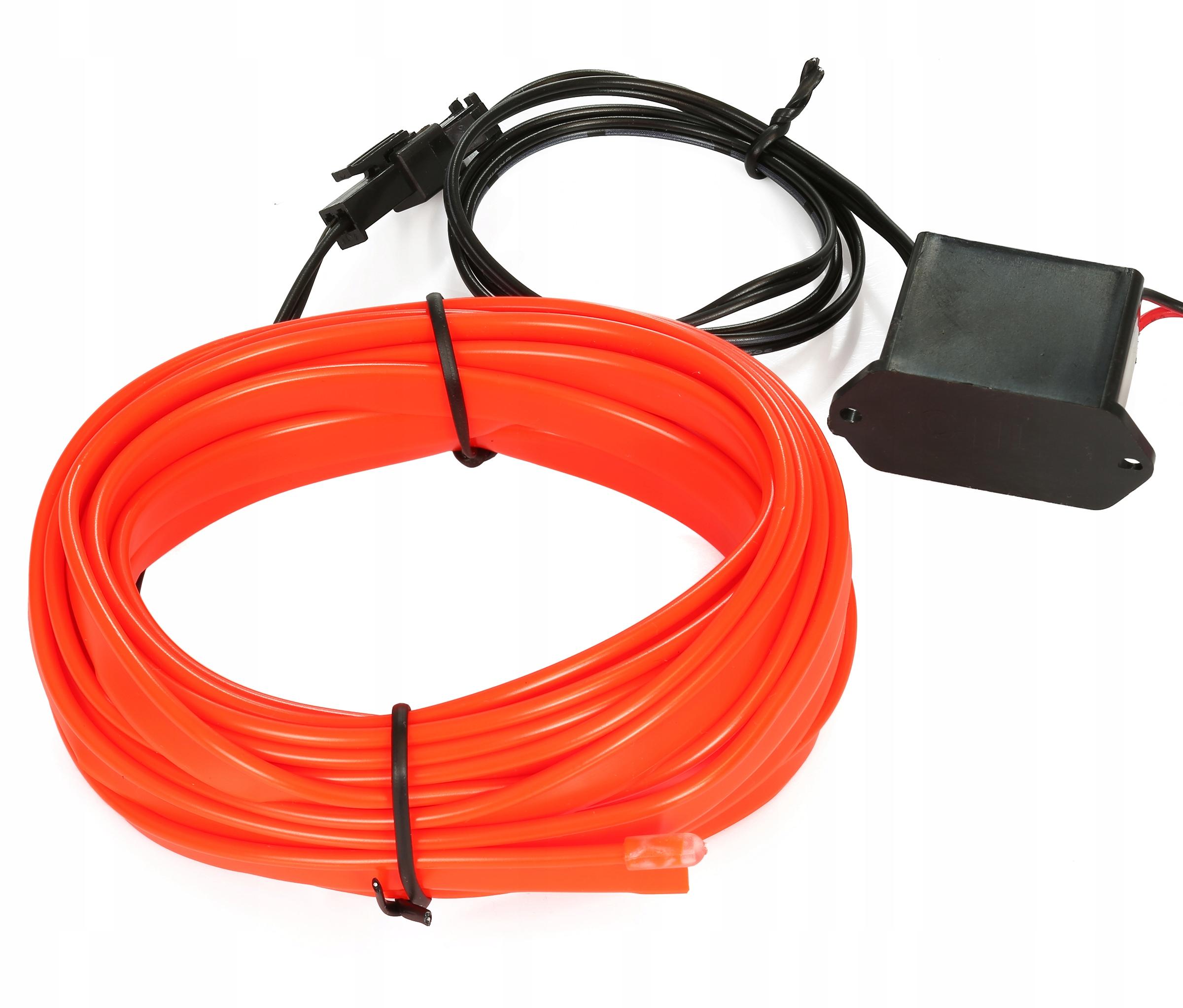 4m Волоконно-оптический кабель el wire лента ambient панель как led