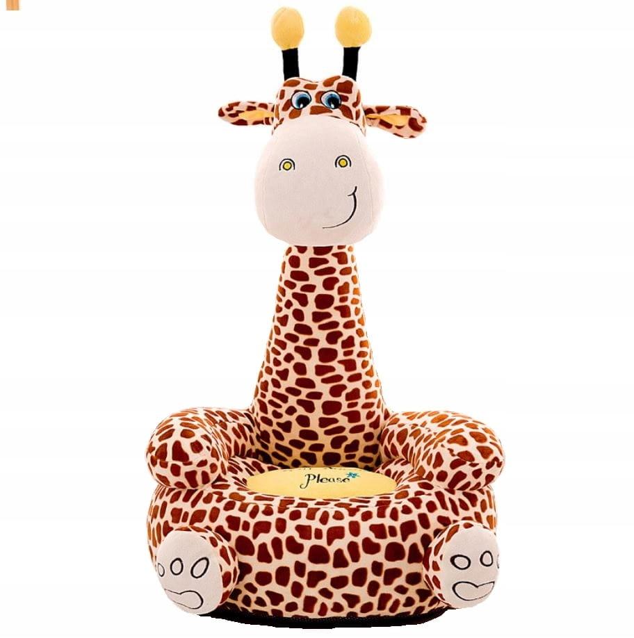 Maskotová pohovka s kreslom pre kreslá. Žirafa pre deti