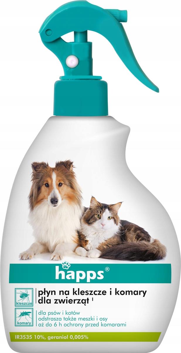 Жидкость Happs против комаров и клещей для собак и кошек 200мл