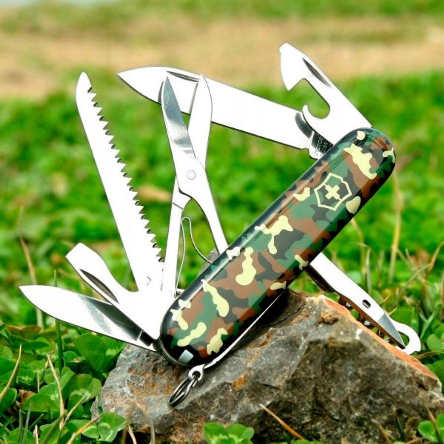 Купить Карманный нож VICTORINOX Huntsman Camouflage camo на Otpravka - цены и фото - доставка из Польши и стран Европы в Украину.