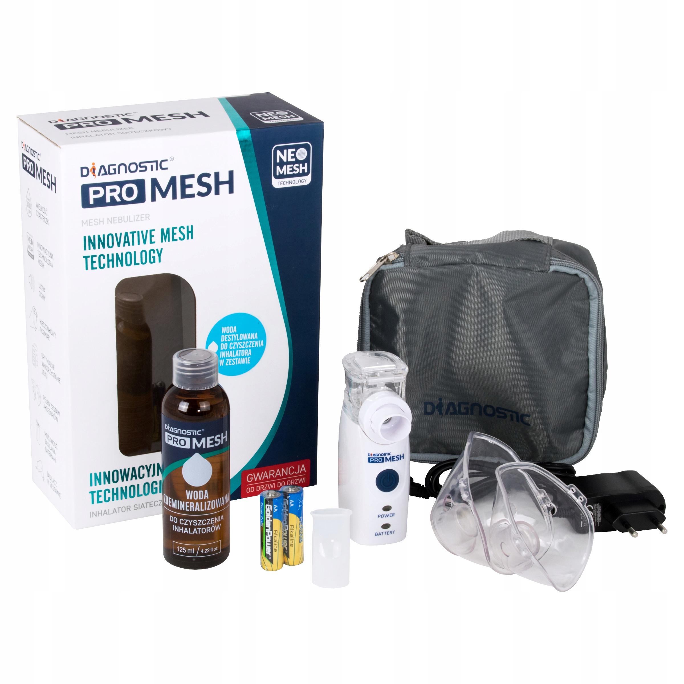 Inhalator PRO MESH DIAGNOSTIC zasilacz + akcesoria