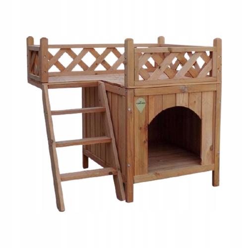 Domek Villa BUDA DLA PSA Kota drewniany z balkonem
