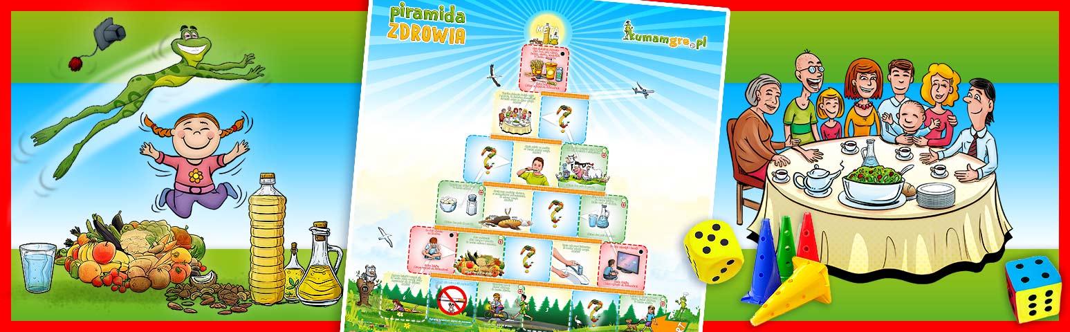 eko gra planszowa dla dzieci PIRAMIDA ZDROWIA Płeć Chłopcy