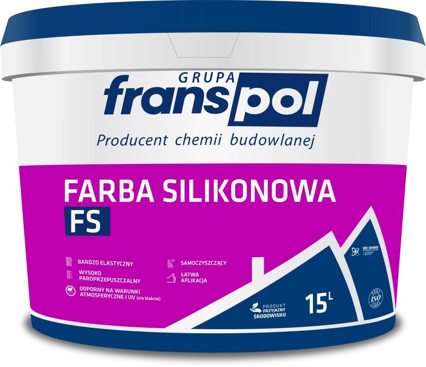 Купить FRANSPOL Farba Silikonowa FS biała 15L на Otpravka - цены и фото - доставка из Польши и стран Европы в Украину.