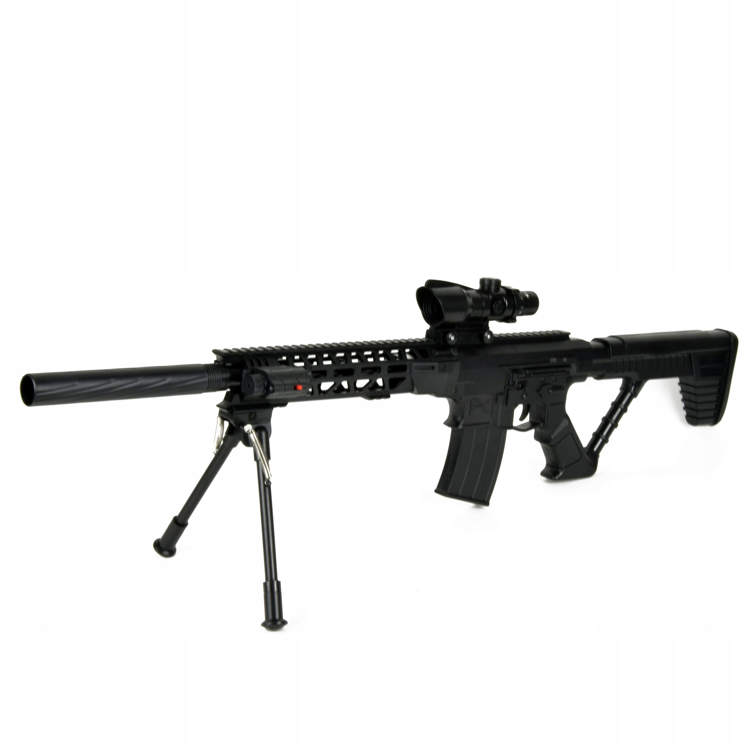 puškový ostreľovač laserových guličiek tlmič 90CM