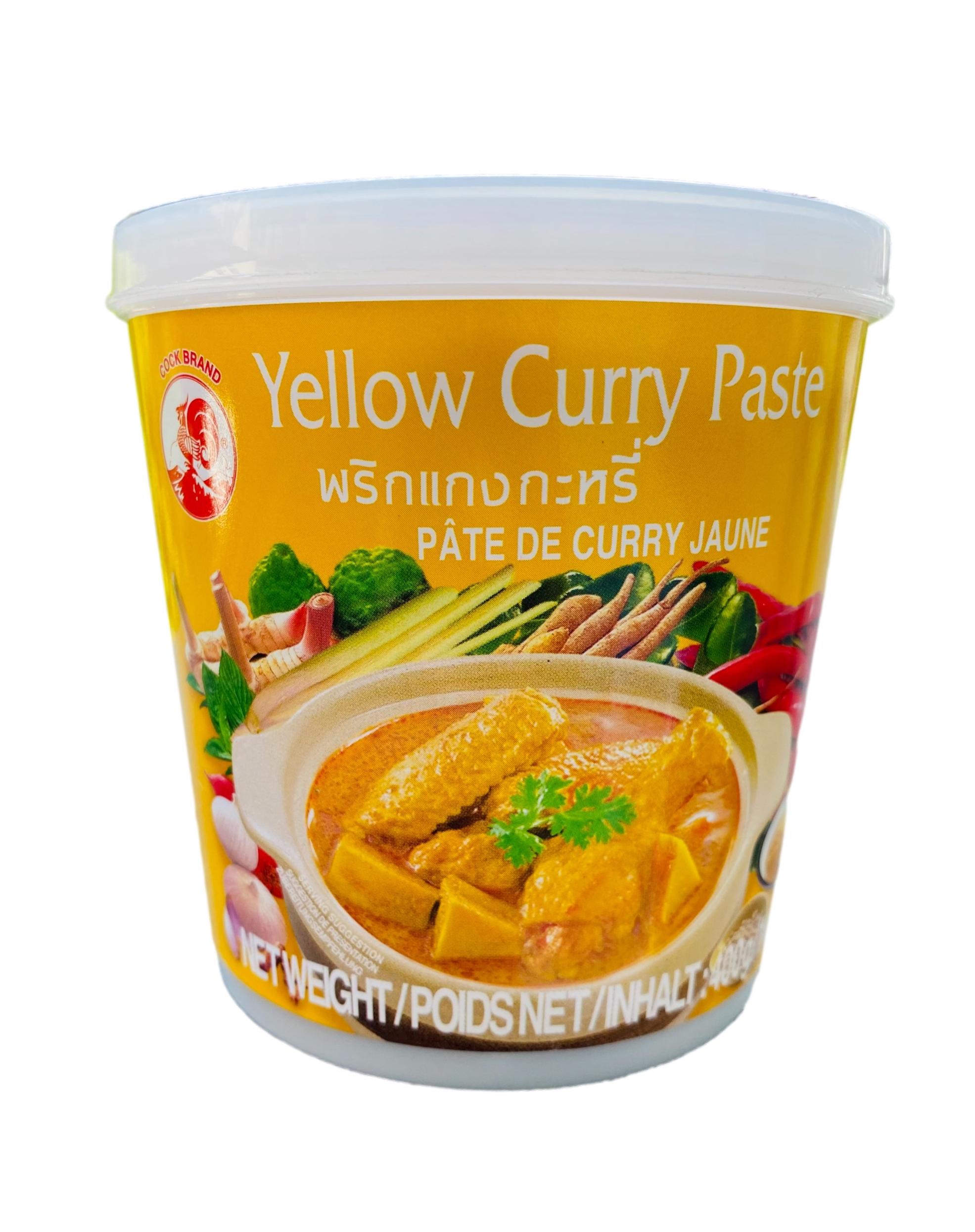 Желтая паста карри желтая 400гр Thai COCK